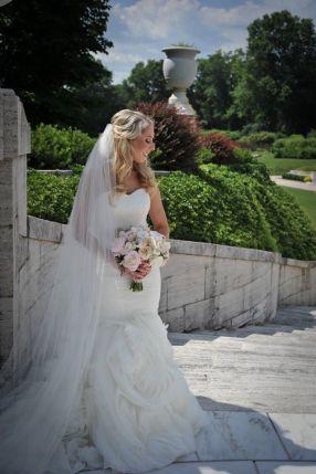 Kerry Harrison Nemours Waterfall wedding bride urn