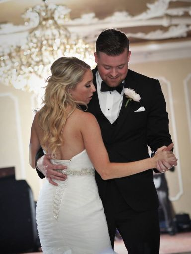 Kerry Harrison nemours waterfall wedding first dance