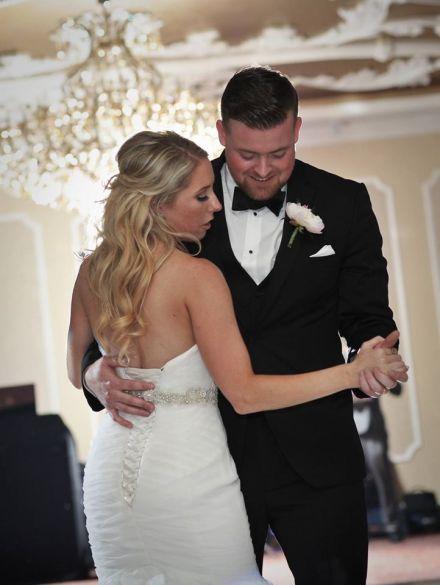 Kerry Harrison nemours waterfall wedding first dance