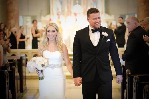 Kerry Harrison NEmours waterfall wedding mr and mrs church