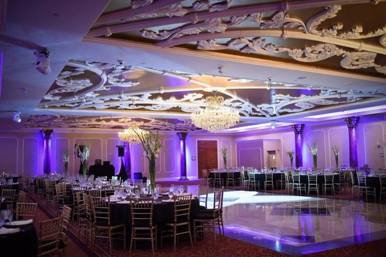 Kerry Harrison nemours waterfall wedding waterfall reception room