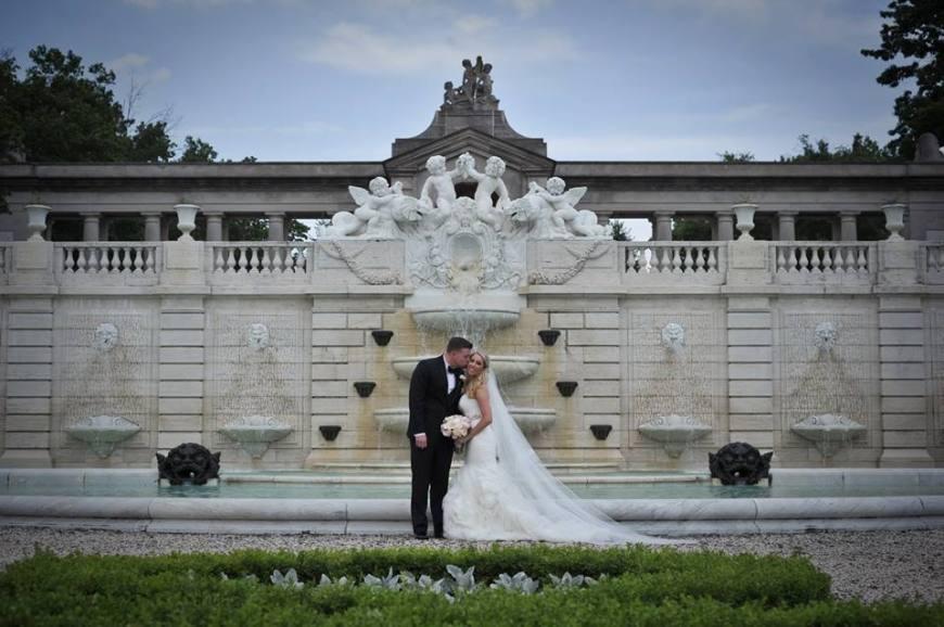 Kerry Harrison Nemours Waterfall wedding