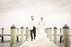 Rehoboth Beach Country club bride groom on dock