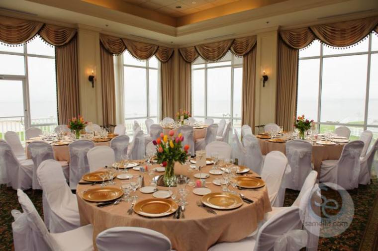 Rehoboth Beach Country Club reception room venue gold
