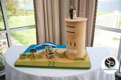 Rehoboth Beach Country club tower wedding cake