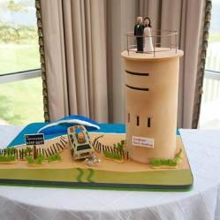 Rehoboth Beach Country club tower wedding cake