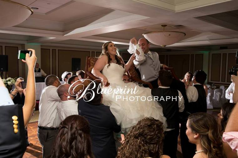 Blueprint Radner Valley bride groom chair dance