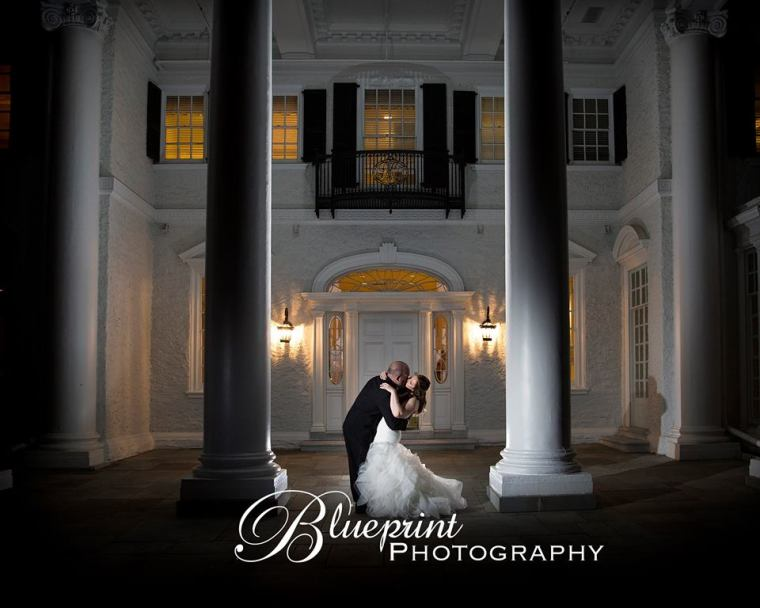 Blueprint Radner Valley columns bride and groom