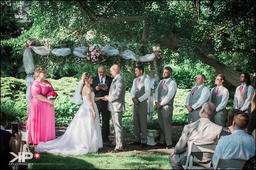 Kelly Phillips Photography University and Whist Club wedding garden