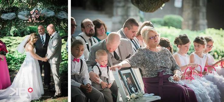 Kelly Phillips Whist bride's mom in memory of father