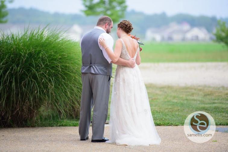 Nassau Valley Sam Ellis back of Bride and Groom
