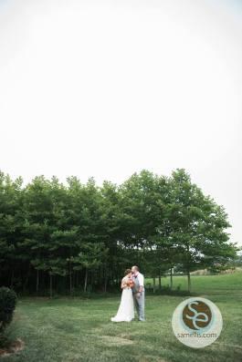 Nassau Valley Sam Ellis outside bride groom trees