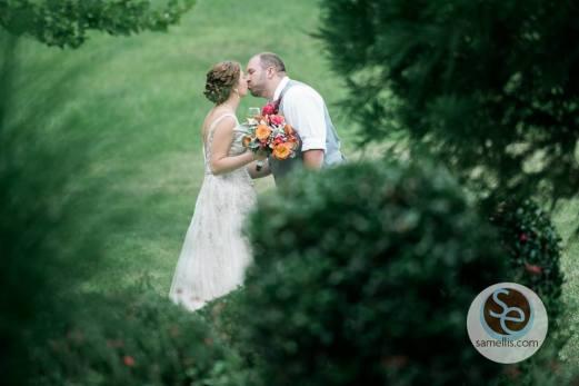 Nassau Valley Sam Ellis outside kiss through the pines