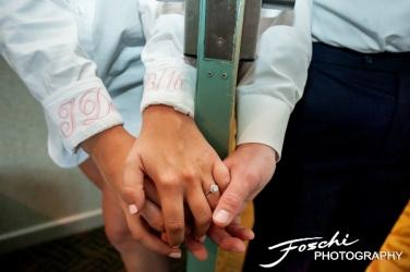 Foschi wedding pink grooms monogrammed cuffs