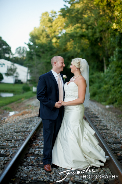Foschi wedding pink railroad tracks