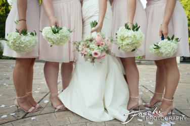 Foschi wedding pink the flowers and feet